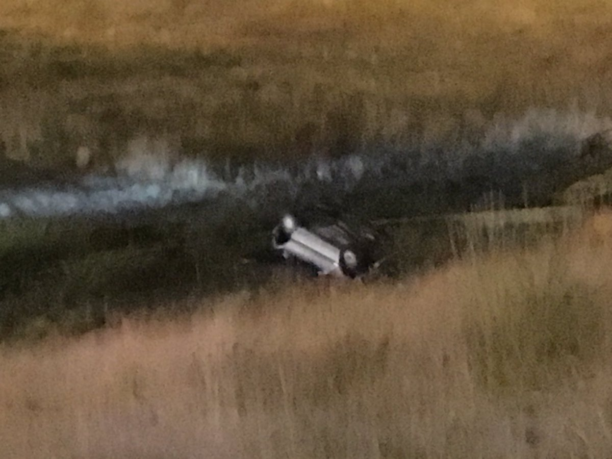 4 people injured after a rollover accident on off ramp of 225 on to Illf. COtraffic