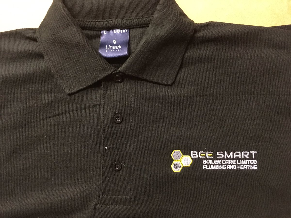 Workwear Logo On Twitter Embroidered Polo Shirts With A Back Print
