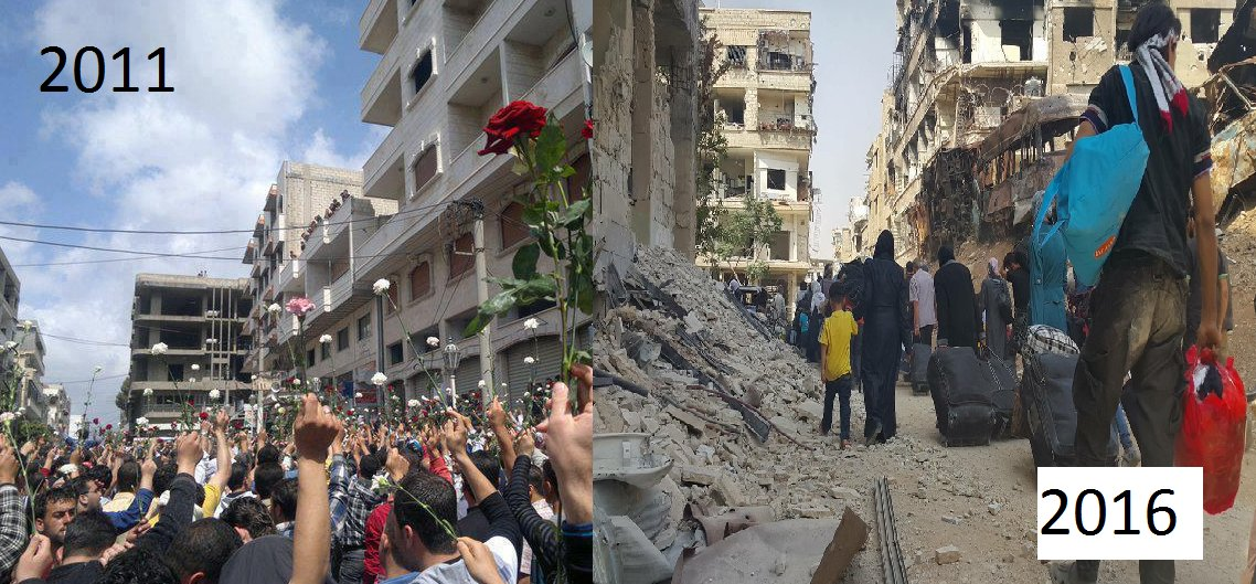 #Daraya then and now https://t.co/p8oH3hZcLw