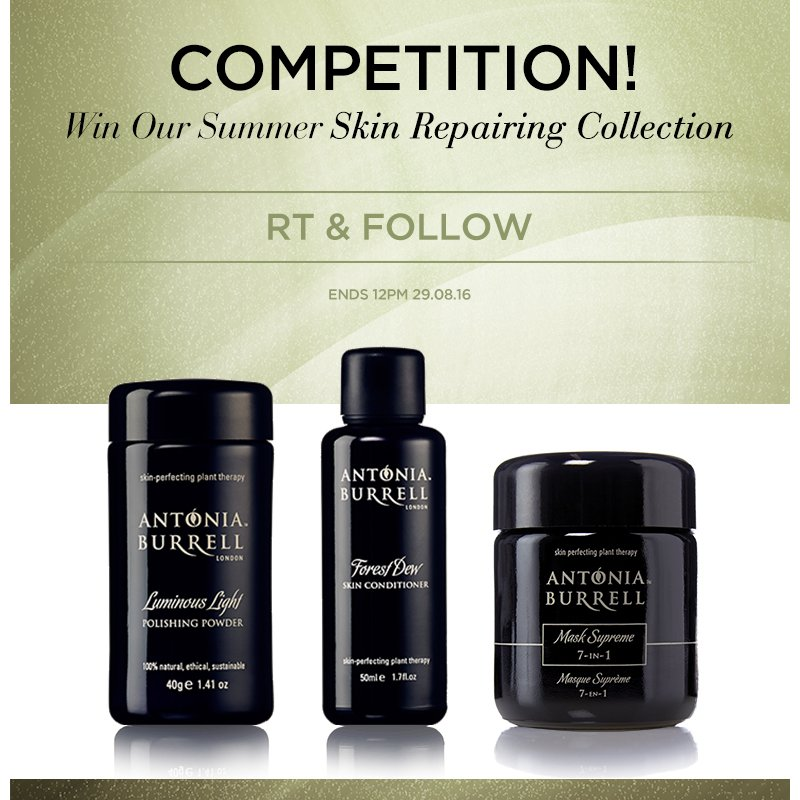#Win our skin-repairing trio to revive your skin after #summer! #RT & follow to enter! Ends 12pm 29.8.16#competition https://t.co/ygffHoWHgi