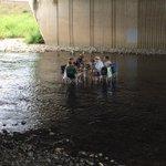 増水したら一発アウトw鴨川の川の中でメッチャくつろぐおじ様たちが凄い!