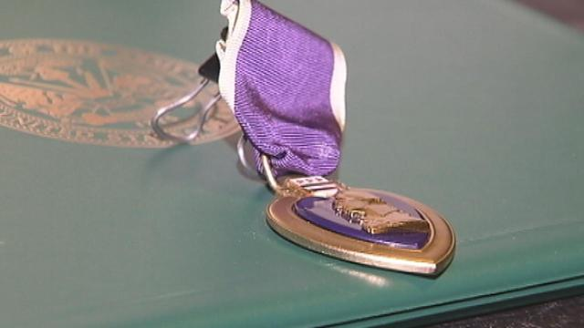 Army veteran gets Purple Heart 66 years after injury