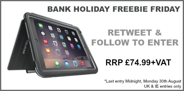 It's Bank Holiday #freebiefriday RT & FOLLOW to win this Peli Vault iPad Mini Case > https://t.co/etfd4MBV1S https://t.co/Y97RRmfPC5