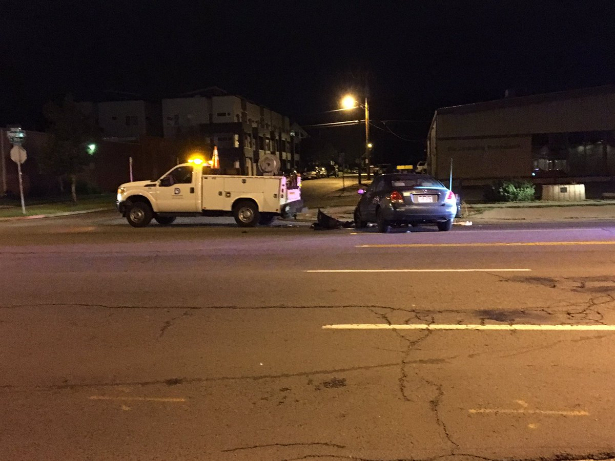 SBI accident involving a Denver Water Dept. truck. SB Federal Closed at 20th.