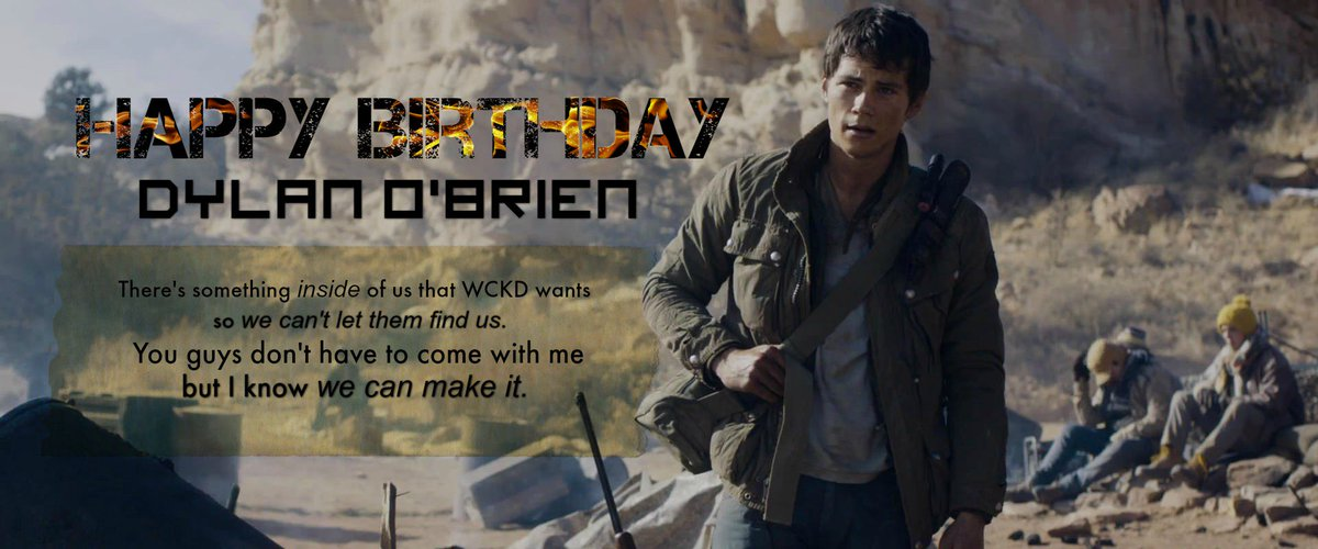 Massive applause for the one and only: Happy Birthday Dylan O'Brien! Wishing you a great day with family & friends! https://t.co/amW8HzrERk