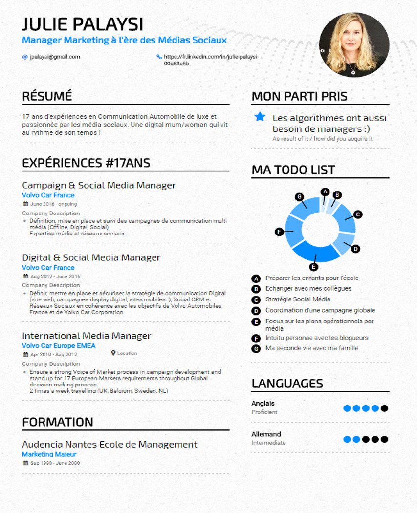 resume for digital marketing