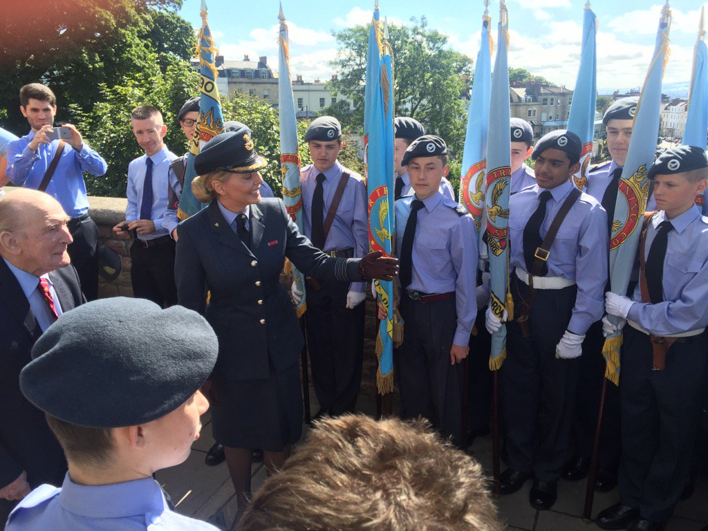Introducing the last Dambuster and hero Johnny Johnson to our @aircadets...he is so supportive of us @ComdtAC https://t.co/Opr9Pl0xqz