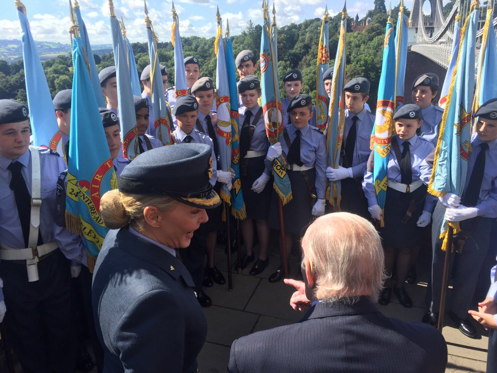 Johnny Johnson and our amazing @aircadets https://t.co/MYgkEOdmRn