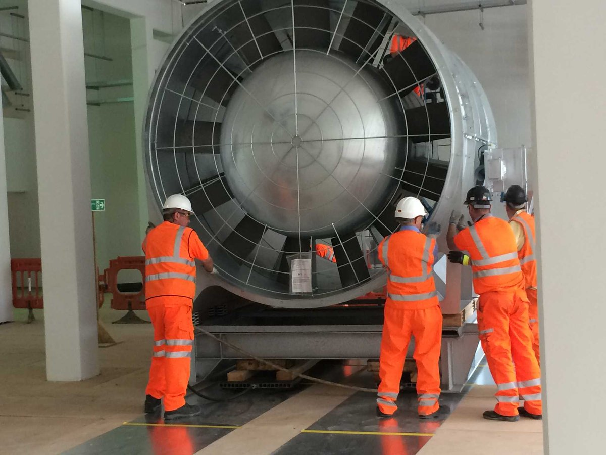 Tunnel Ventilation Fans : Crossrail project on twitter quot the first batch of