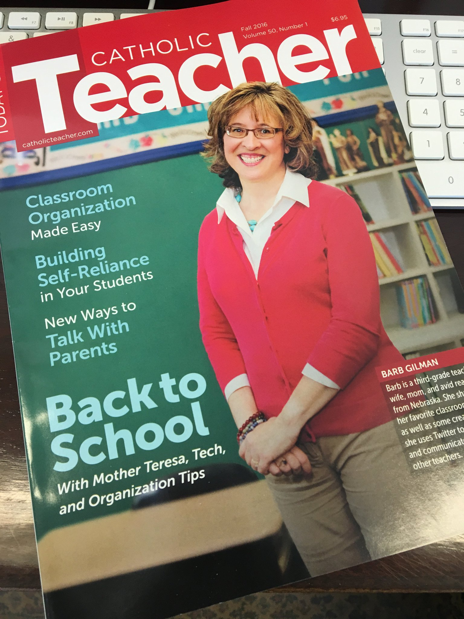 Wow! Super excited to see my #CatholicEdChat pal @BarbInNebraska on the cover of Today's Catholic Teacher magazine! https://t.co/d7nO4Cld0j