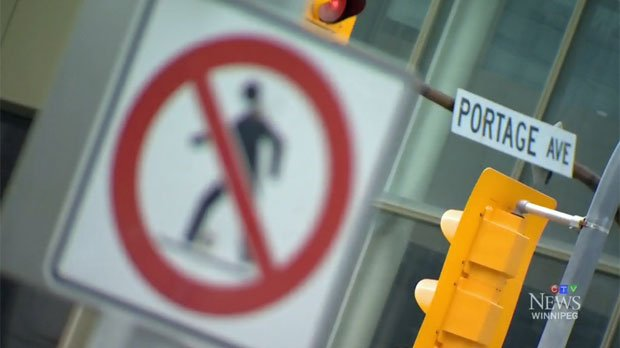 Why can't you cross Winnipeg's most famous intersection?