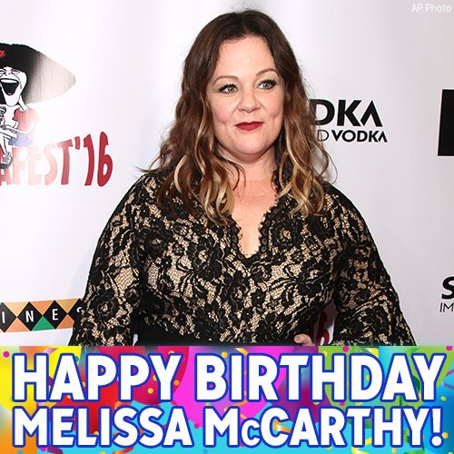 "Happy Birthday, Melissa McCarthy! The ""Bridemaids"" and"