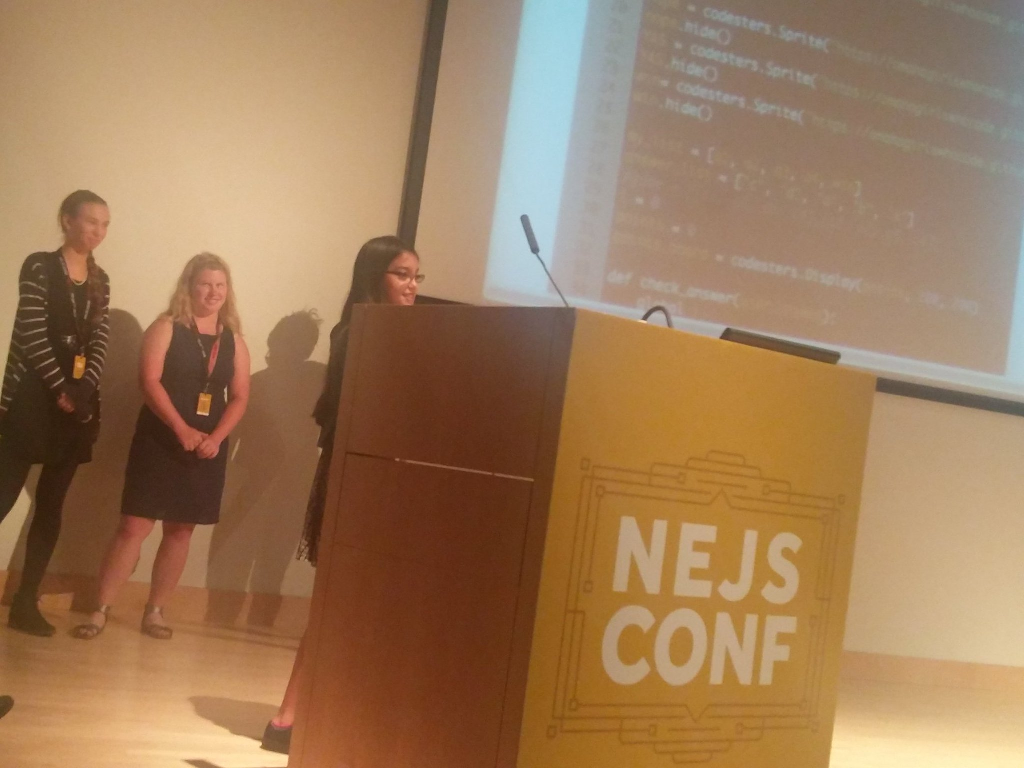 it's so inspiring to hear these young girls sharing the story of their first website @omahagirlswhocode #nejsconf https://t.co/hOVQBNgPBj