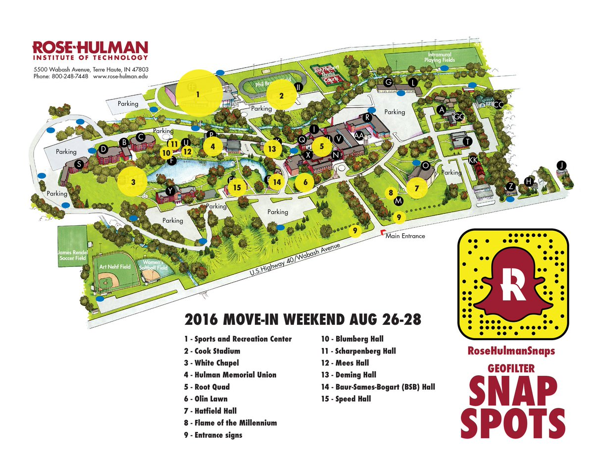 rose hulman campus map Rose Hulman On Twitter It S Move In Day Check Out All The rose hulman campus map