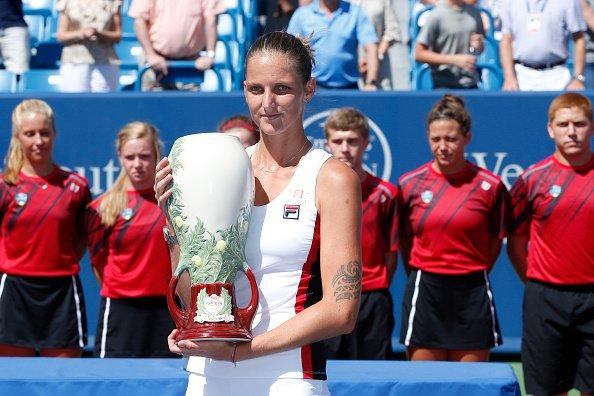 Karolína Plíšková s trofejí v Cincinnati