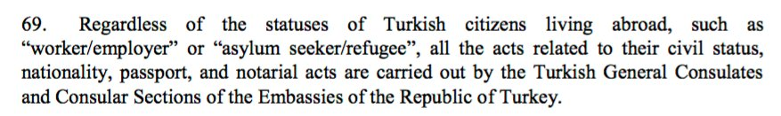 13) #Turkey gov't claimed to have provided all required services to Turkish expats no matter what. https://t.co/fuDpnY6LcU