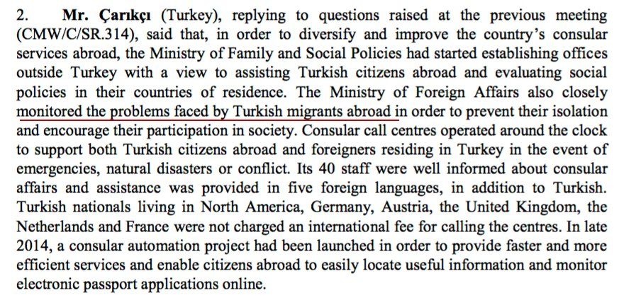 23) Turkish diplomat claimed his foreign ministry monitored problems faced by Turkish immigrants abroad https://t.co/tPZwJhrySR