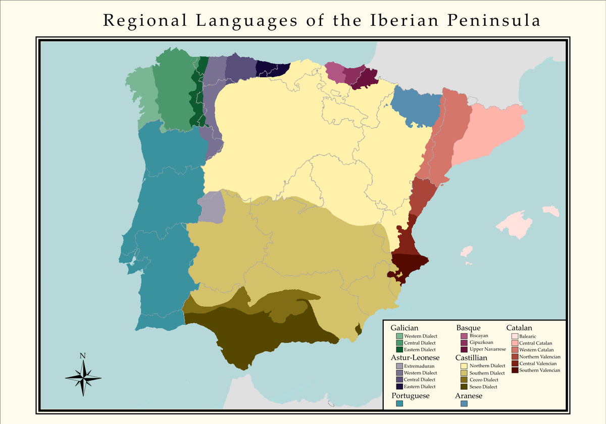Languages In Spain Map.Simon Kuestenmacher On Twitter Beautiful Map Shows Language