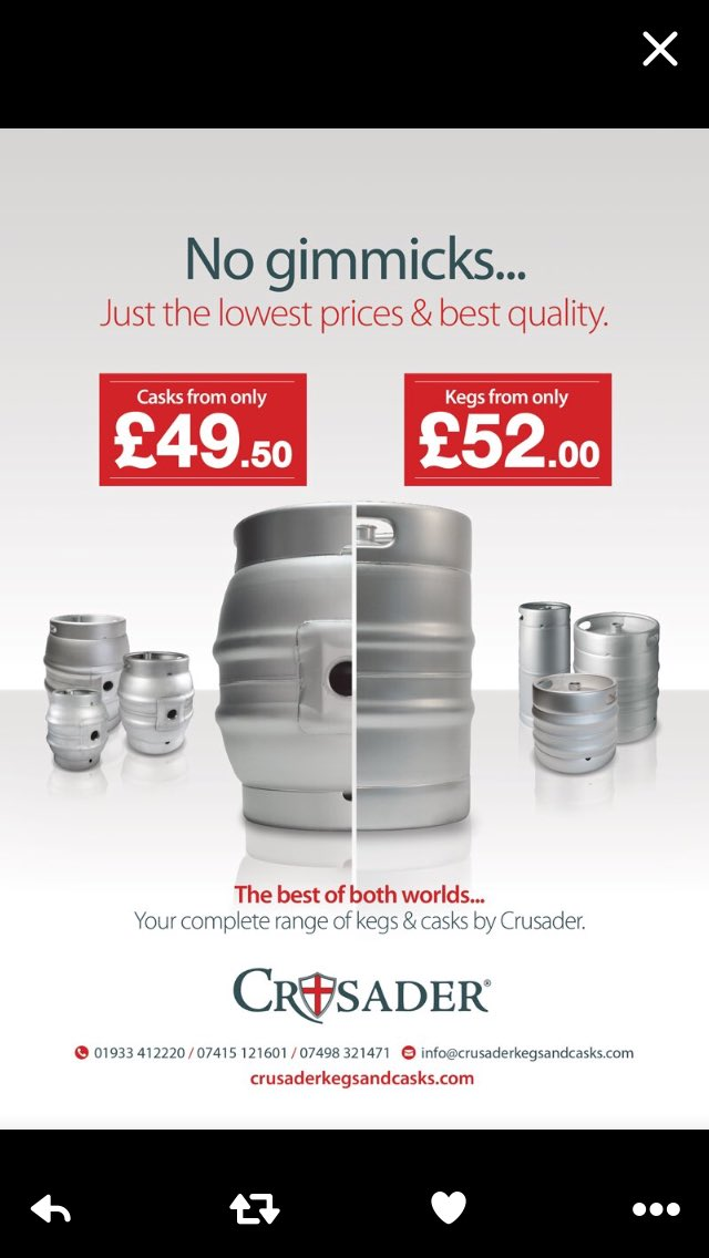 Crusader On Twitter No Gimmicks Just Great Prices Cask And Keg