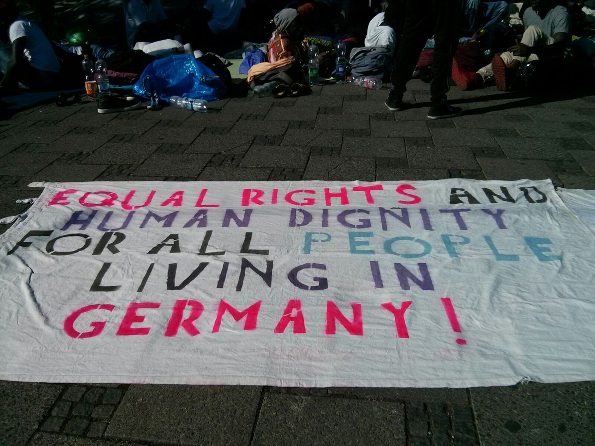 Забастовка беженцев в Мюнхене