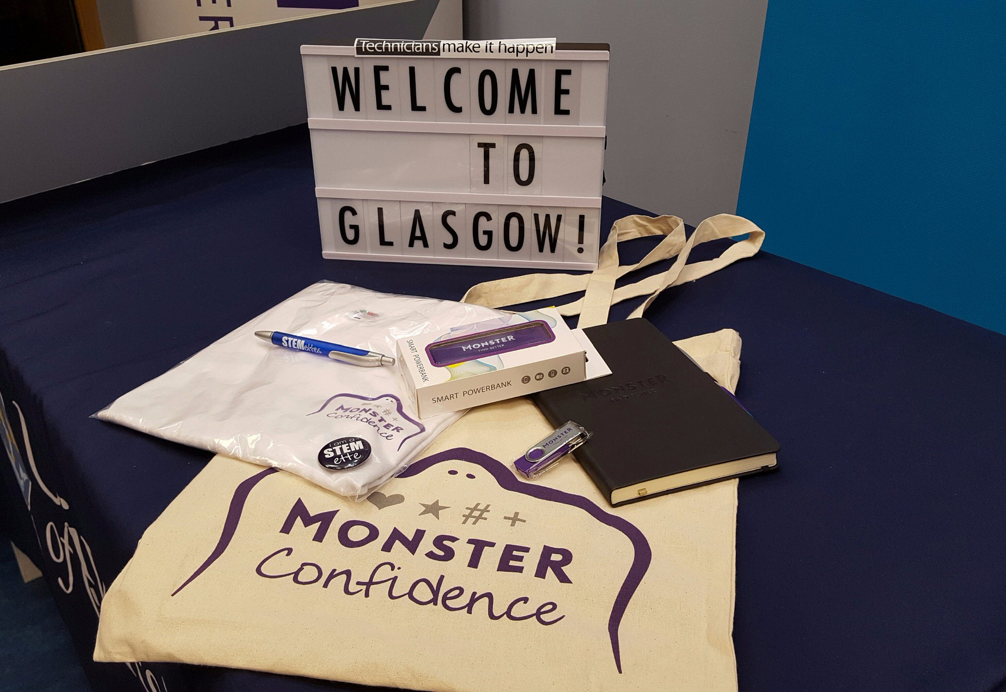 Great goody bag for all the school students taking part in #MonsterConfidence at UofG with @Stemettes #WomenInSTEM https://t.co/U1CAnNFEuo