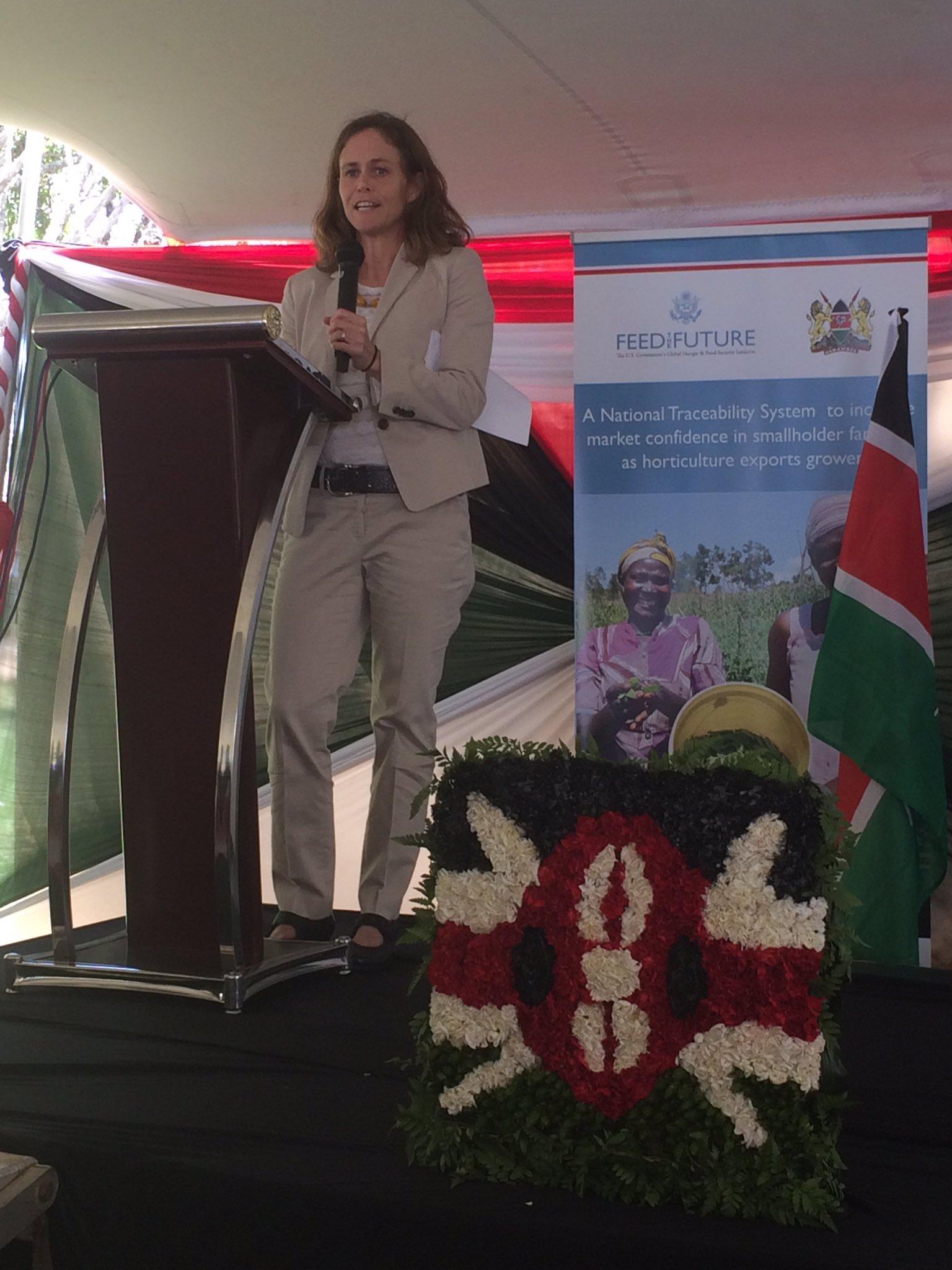 Launching the Kenya Horticulture Traceability System!@beth_dunford @USAIDKenya @FeedtheFuture #grownsafelyforyou https://t.co/1kLs8YNtKS
