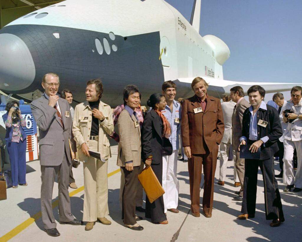 #TBT We hosted the Star Trek crew in 1976 for the rollout of Space Shuttle Enterprise. #StarTrek50 https://t.co/20vDzlMsKf
