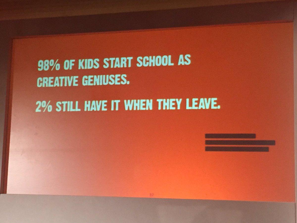 Institution often stifles creativity - Chris Moss #LikeMinds https://t.co/5u137xdUS0
