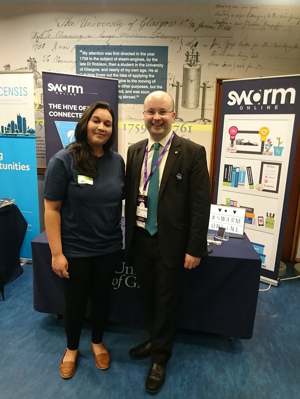 MP for Glasgow North @GradySNP just dropped by the SwarmOnline stand here at #MonsterConfidence! #STEM #careers https://t.co/rI9VOUUsZj