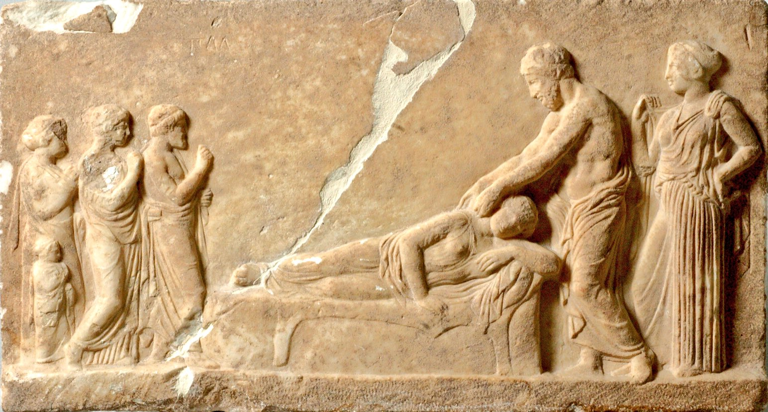 """A Melville on Twitter: """"Votive relief of Asclepius healing ..."""