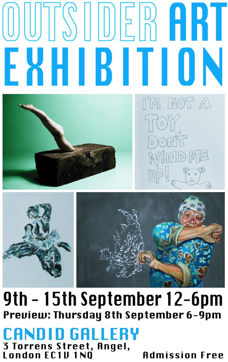 RT @candidarts Come to the #preview of the #OutsiderArt #exhibition @candidarts tonight. Starts at 6pm. #art #thingstodo #free