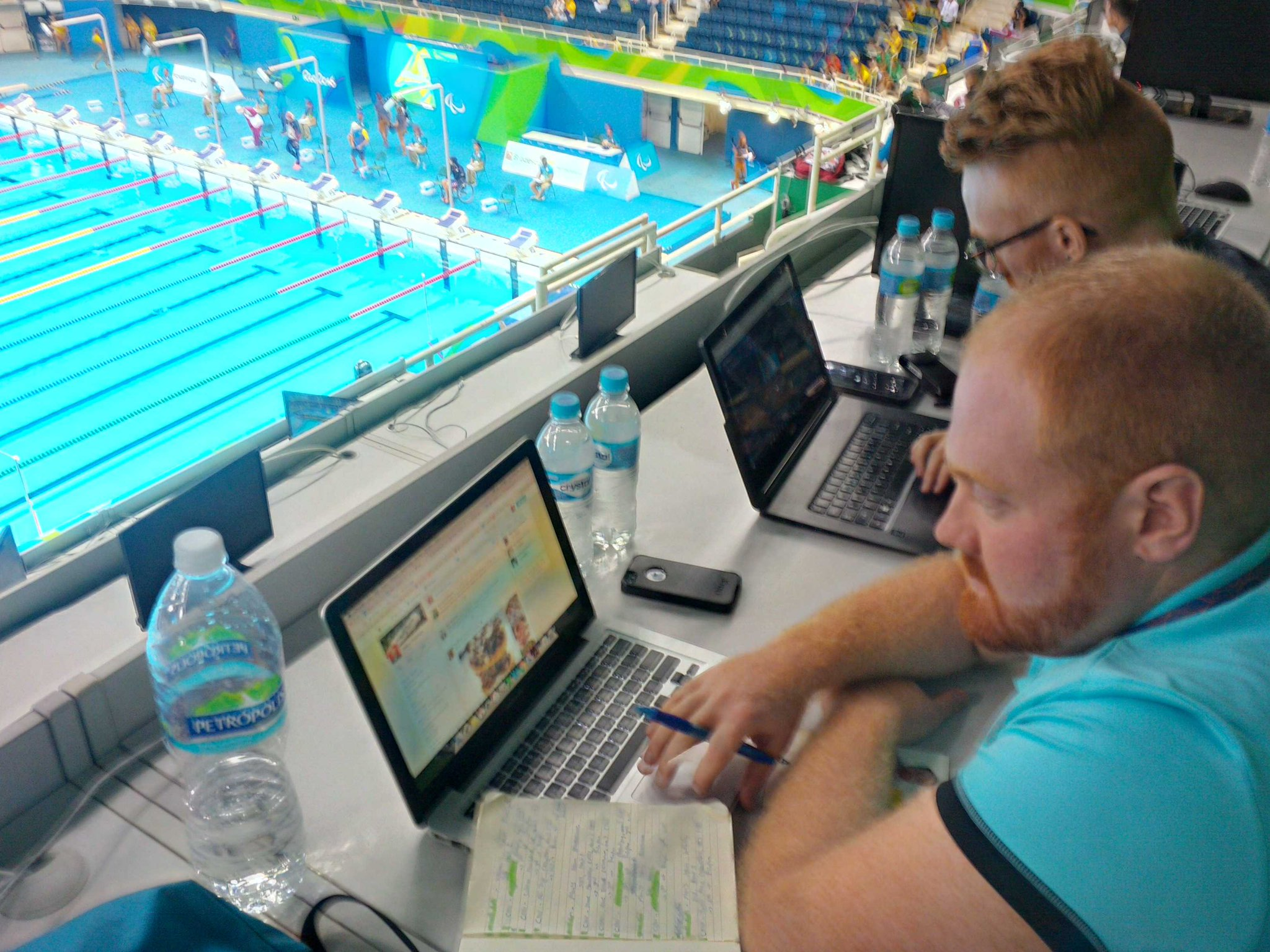 Our @c_fergs and @keep_score cover swimming @paralympics #parabrazil16 @sportsjschool https://t.co/VhLjW1eDNc