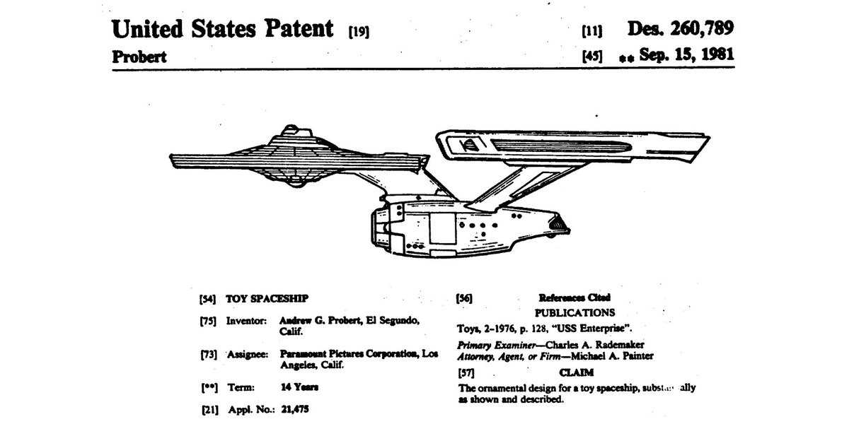 To boldly go where no #patent has gone before. #StarTrek50 #StarTrek https://t.co/DHCWX7QZAU