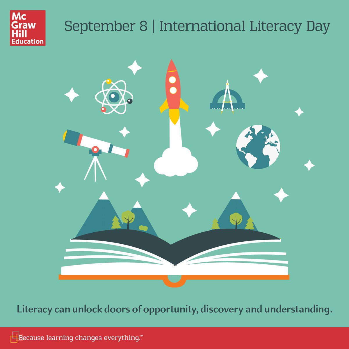 Literacy can unlock doors of opportunity, discovery & understanding. Happy #InternationalLiteracyDay! #edchat https://t.co/vDlcxVPAOI