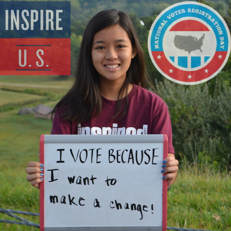You should #probablyvote and definitely get registered! #inspire2vote #celebrateNVRD https://t.co/sXw9iKIzvf