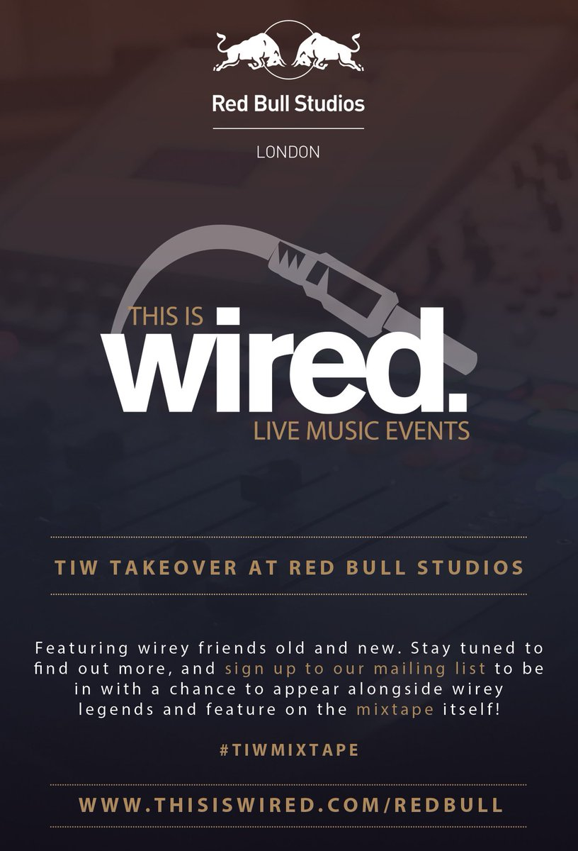 Hear more about our @RBMA takeover & win the chance to appear on our Wirey #TIWMIXTAPE ! https://t.co/xIfOVMuA1y https://t.co/mC6Oq2AXk7
