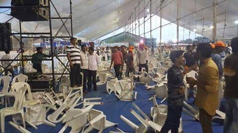 Scenes from Amit Shah's Surat rally. BJP losing Gujarat?
