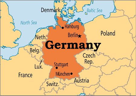 Ideas Map Of Countries Surrounding Germany On Emergingartspdxcom - Germany map neighbouring countries