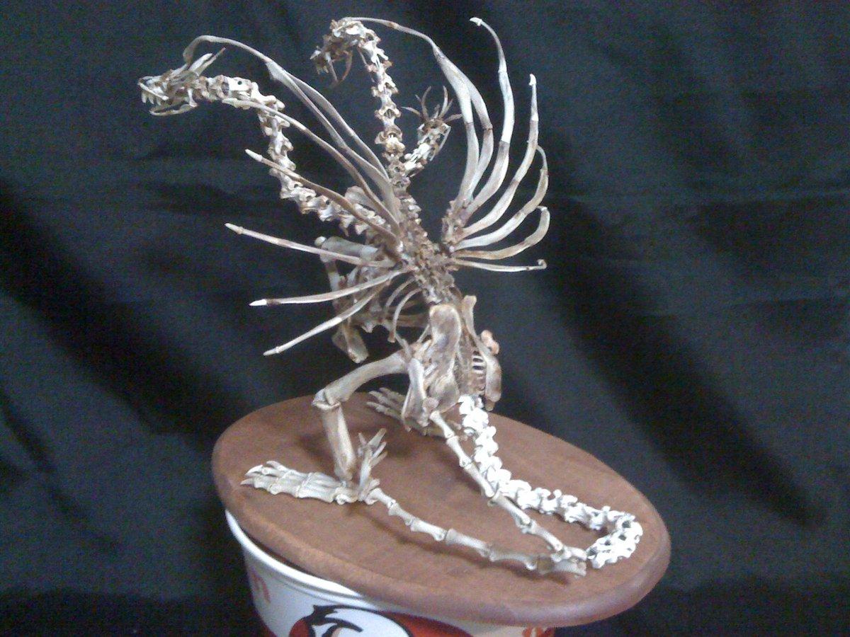 ケンタッキーの骨で骨格を作った人がいたww結構リアルで凄いw