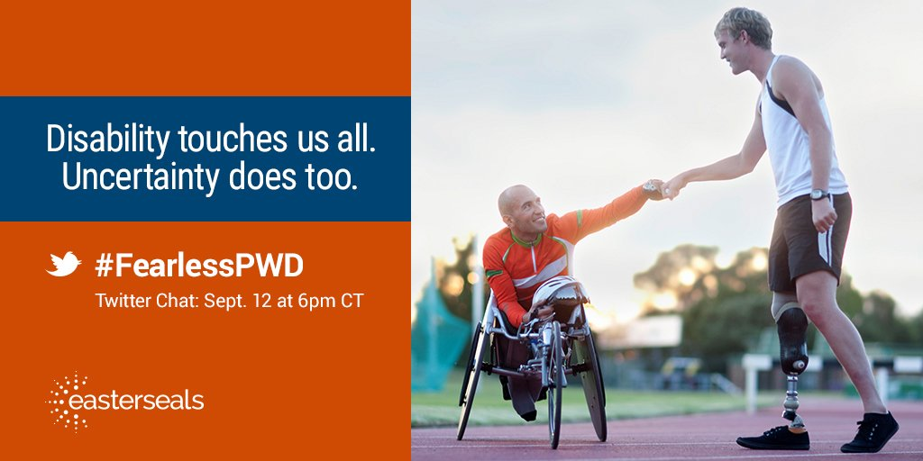 #FearlessPWD Twitter Chat:What's holding you back from your goals? 9/12, 6pm CST https://t.co/HUCR6w1oY4 #disability https://t.co/xLF9lnqK3u