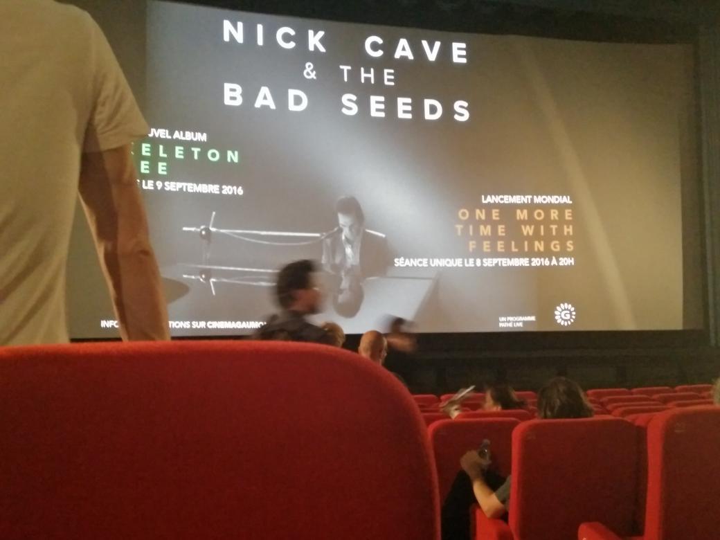 Séance complète pour #OneMoreTimeWithFeelings avec @nickcave au Gaumont opéra #skeletontree