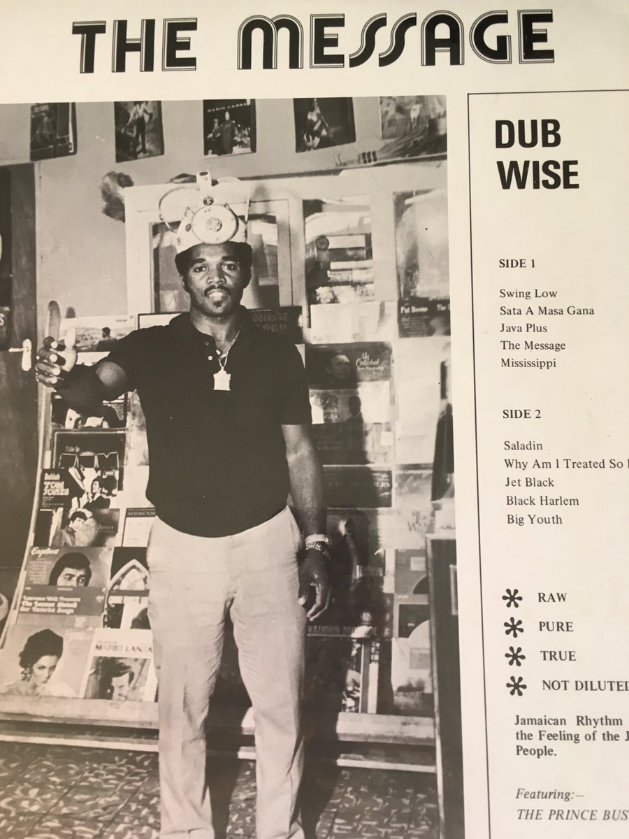 Prince Buster wasn't just a Ska pioneer he also produced one of Jamaica's first ever Dub albums 'The Message' https://t.co/Llmb6Jjvc8