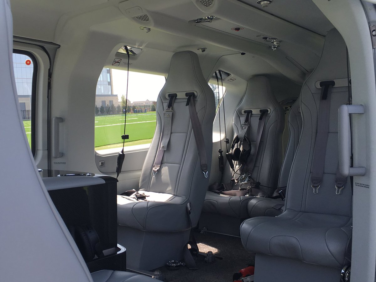 Brandon George On Twitter Look Inside Jerry Jones New Helicopter He Uses To Get From Team Headquarters In Frisco The Stadium