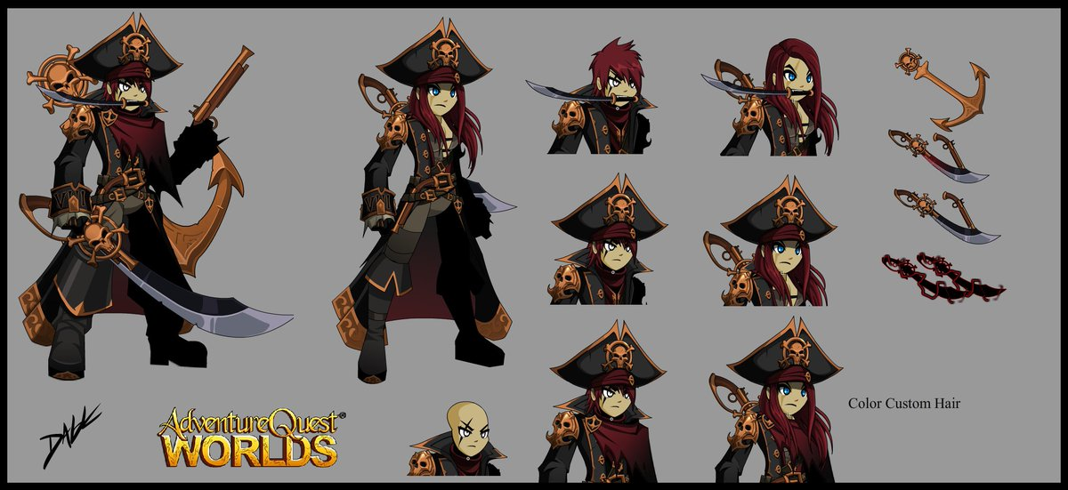 Cursed Naval Commander 2016 TLAP Male and Female with accessories. #AQW #aqworlds @ArtixKrieger https://t.co/oTve1tblwm