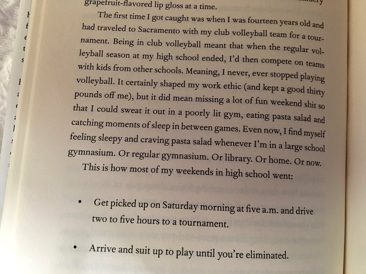 An excerpt from @amyschumer's new book about her club volleyball days. Totally relatable. https://t.co/dy9u6XeS62