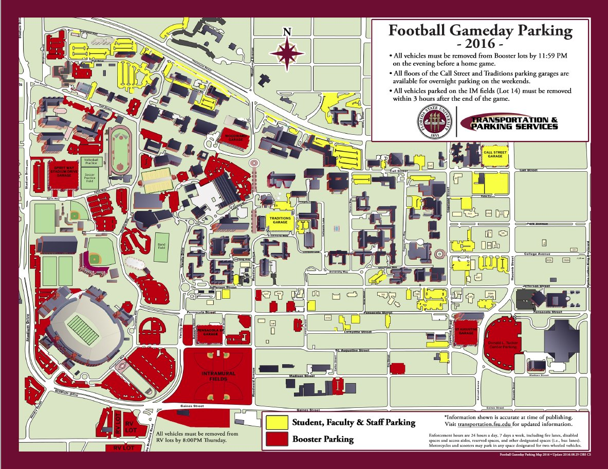 Fsu Parking Map FSU Transportation on Twitter: