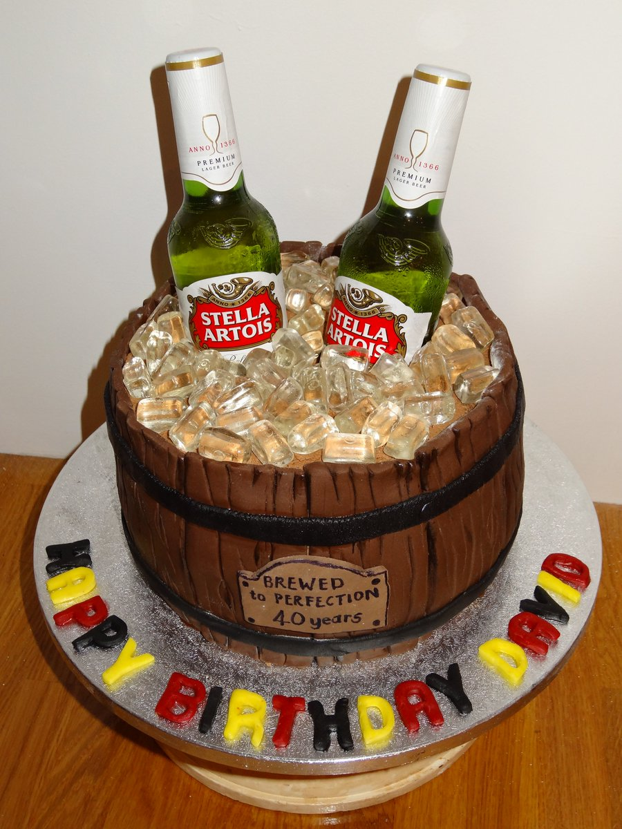 40th Birthday Cake For A Belgian Beer Lover Stella Cakesbyjewelspictwitter UEDDvlogYO