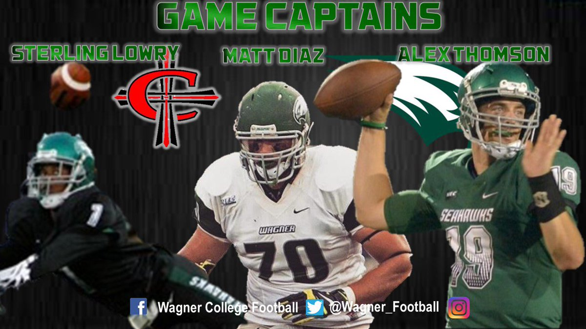 Wagner College Football On Twitter Game Captains For Concordia Are