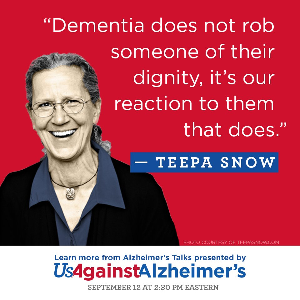 Join us on Sept. 12 for an exciting conversation with respected Alz care expert Teepa Snow: https://t.co/STZOuKdAj3 https://t.co/nxVWReBxMm