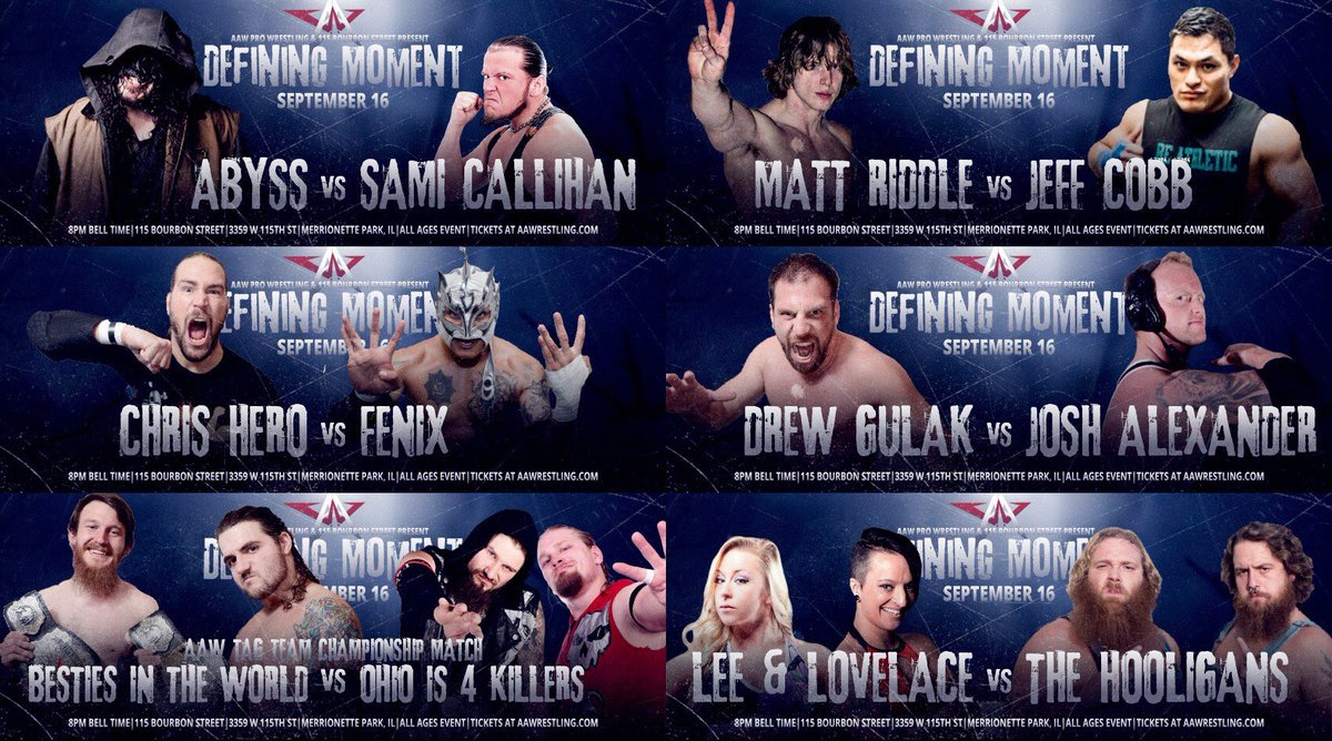 RESULTADOS - AAW Defining Moment 2016 (16/09/2016)